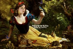 snowwhite with al her friends. by Miss-evill