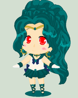 Art Trade: Chibi Neptune by MahouChikara