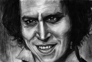 Sweeney Todd - charcoal portrait (II) by GiobbyBla