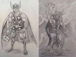 Thor sketches by ugurbs