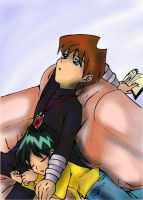 seto and mokuba  - coloured by lazarus84