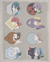 Pokemon Gym Leaders from Johto Region by eris212