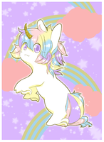 Unicorn Nekobi by NauticalSparrow