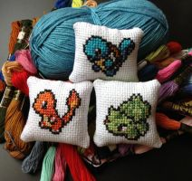Starter sprite needle cushions by AyA124Seohyo