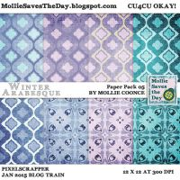 Winter Arabesque Paper Pack 5 by Mollie-Coonce