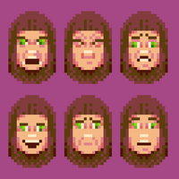Set of Facial Expressions by hivernoir