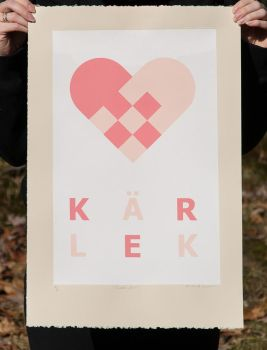 Karlek Screenprint by mystikalyx