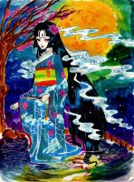 Lady Ghost in Kimono by Irumi17