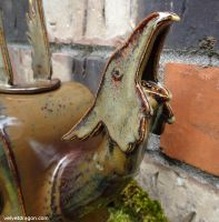 Gryphon Teapot Detail: Head (Spout) by tser