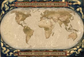 Old Antique Map of The World by 2planets