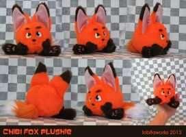 Chibi Fox Plushie by GrowlyLobita