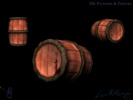 Low Polygon Barrel by Starcat666