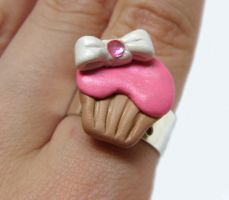 Jeweled Bow Cupcake Ring by yobanda