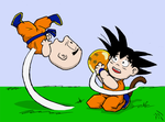 Dragonball meets Peanuts by Superbdude1
