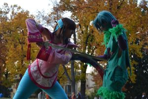 Xianghua vs Tira Cosplay - Defeating the Evil by AngyValentine
