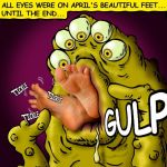 Alien with good taste of toes by hkila