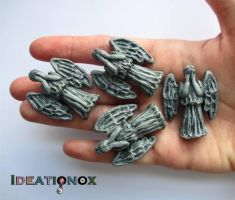 Weeping Angel Charms. Don't Blink! by Ideationox