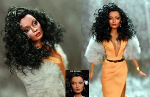 Diana Ross doll repaint by Noel Cruz by noeling