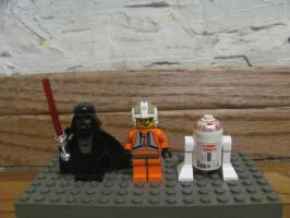 LEGO TIE Fighter and Y-Wing minifigs by ZeldaTheSwordsman