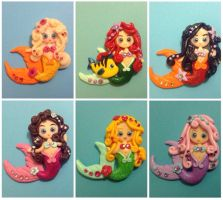 Mermaid magnets 2 by Smurfbreeder