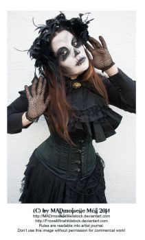 Halloween 2014 SPECIAL Skull Lady Stock 004 by MADmoiselleMeliStock