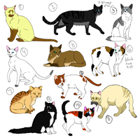 Cat adopts (2 left number 4 is free 1 is 1 point) by xWolfObsessionx