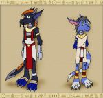 When in Egypt - Rah and Yue by hunterbahamut