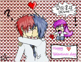 Valentines - Yuki Dai and Nao by issabissabel