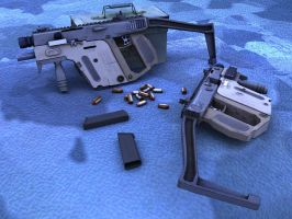 KRISS sub-machine gun by JerkDrive