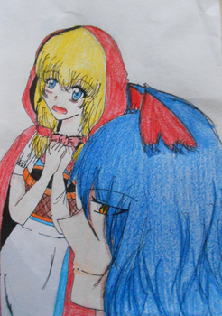 Little Red Riding Hood and Wolf by Kylie-Kagamine