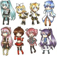 Vocaloid Sticker Set by ChocolateLlama