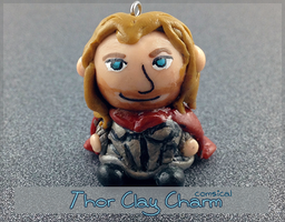 Thor Clay Charm by Comsical