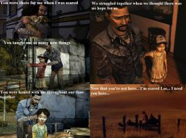 Walking Dead The Game: Clementine's feeling by Neko-Herrington