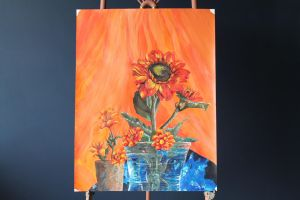 Flower and Metallic paper study by Malitia