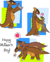 A Kangaskhan's Mother's Day by vaguelygenius