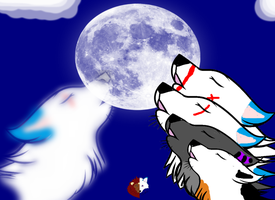 Cliffside pack howling and Ana's Father's spirit by liongirl2289