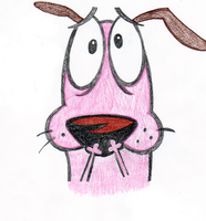 Courage the Cowardly Dog by cartoonimedeo