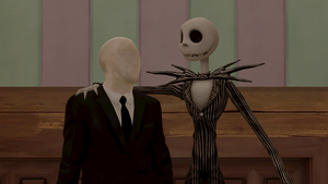 Skellington And Slender man by abr215