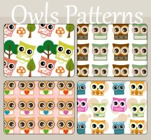 Owls Patterns by koshadesing