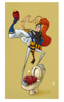 Earthworm Jim by CamaraSketch