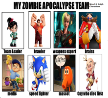 Zombie Apocalypse team by Averagejoeguy2