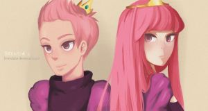 prince gumball and princess bubblegum by brendalai
