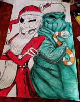 Jack Skellington and Oogie Boogie (READ DESC.) by rainbowthefox