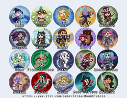 League of Legends Button Designs by NikkiWardArt
