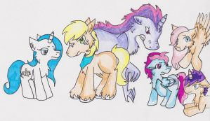 Mane 6 For Tex by OpalEyeShine