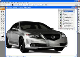 Adobe Illustrator: Acura TL by Kawudo