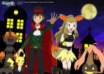 PKMN V - Ash and Serena V - L'Halloween by Blue90