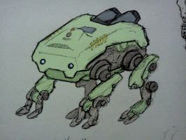 Little Robot Walker by secondaryprotocol