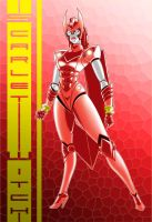 Robo Scarlet Witch 9of10 com by Thuddleston