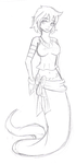 Sabrina the Lamia +SKETCH+ by EmiTheOtter